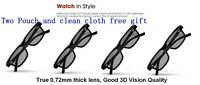 4 Pairs New VIZIO XPG201 THEATER PASSIVE 3D GLASS Free shipping free clean cloth