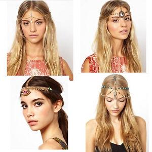 Boho-Punk-Hair-Crown-Cuff-Headband-Headwrap-Headdress-Tassel-Chains-Gothic