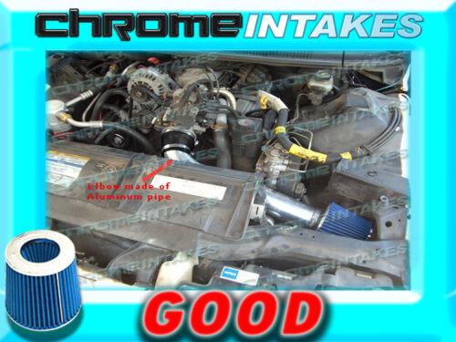 BLACK BLUE 95 96 97 CHEVY CAMARO//PONTIAC FIREBIRD 3.8 3.8L V6 FULL AIR INTAKE