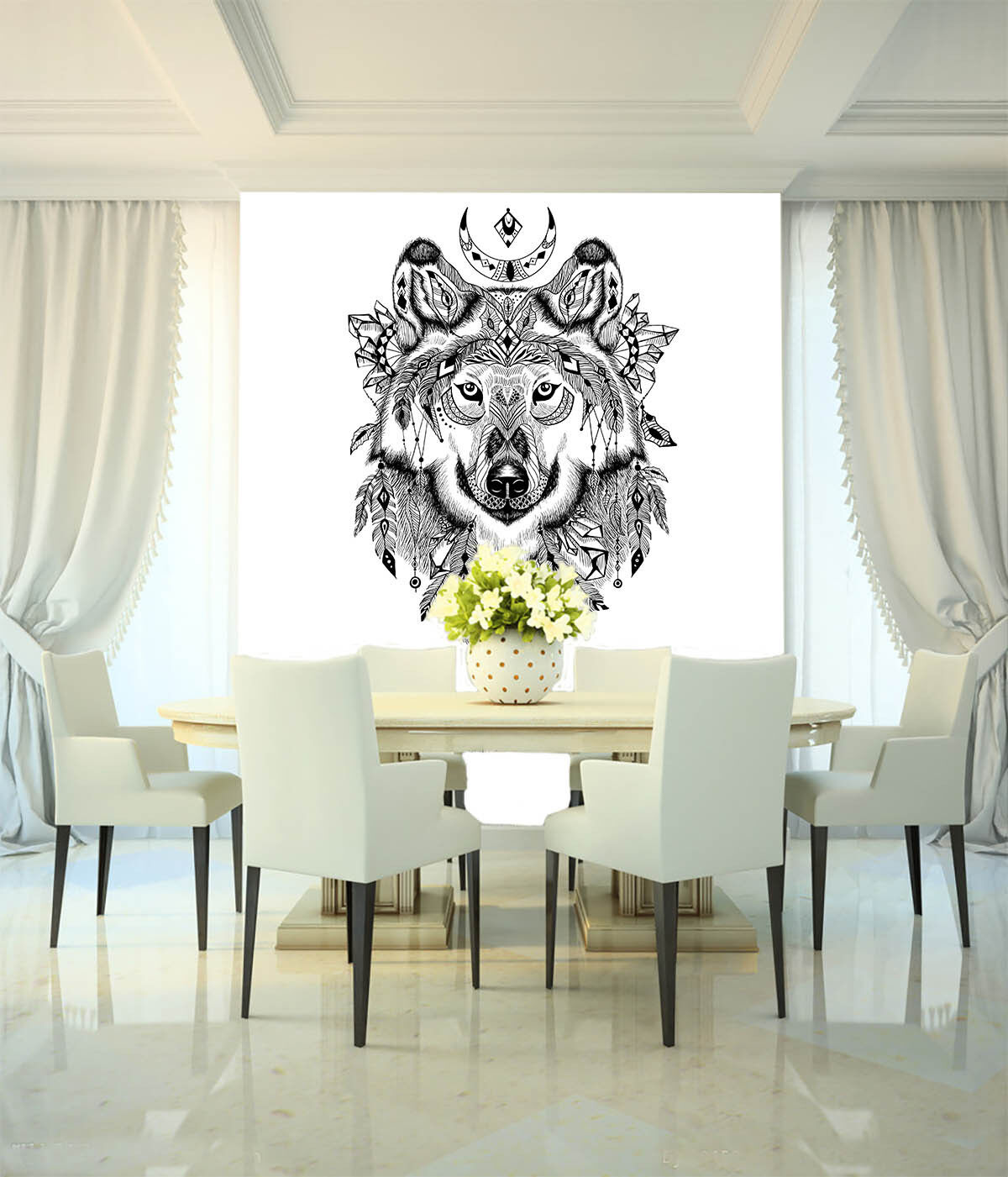 3D Animal And Patterns Wall Paper Wall Print Decal Wall Deco Wall Indoor Murals