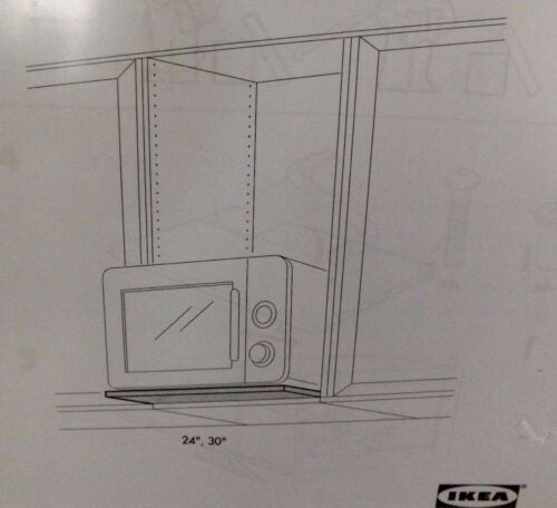 """melamine white 30/"""" x 20/""""  945.796.10 Ikea Rationell Shelf for microwave oven"""