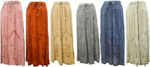 PLUS-SIZE-BOHO-HIPPIE-TONE-TO-TONE-FULL-LENGTH-EMBROIDERED-GYPSY-SKIRT-10-20