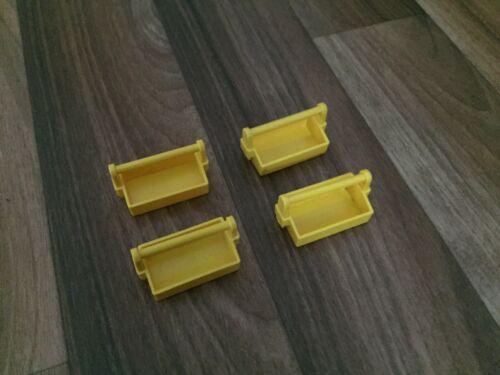 PLAYMOBIL 4x Werkzeugkiste gelb, Bau, Bauernhof,Cargo
