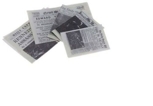 Dollhouse Miniatures 1:12 Scale Newspapers, 5Pk #IM65334