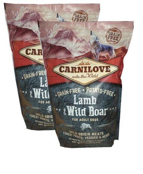 2x12kg Carni  Adult Agnello e cinghiale priva di cereali cibo per cani