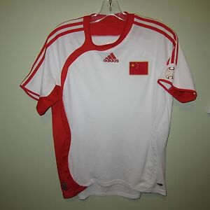 vintage TEAM CHINA 中国 2006-07 Adidas home football shirt S white ... 2571e569a