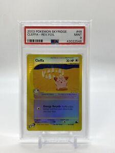 2003-Pokemon-Skyridge-48-Cleffa-Reverse-Foil-PSA-9-MINT-Card