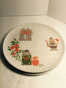 Image is loading Lenoxware-Vtg-3-Plastic-Plates-10-034-Retro- & Lenoxware Vtg 3 Plastic Plates 10