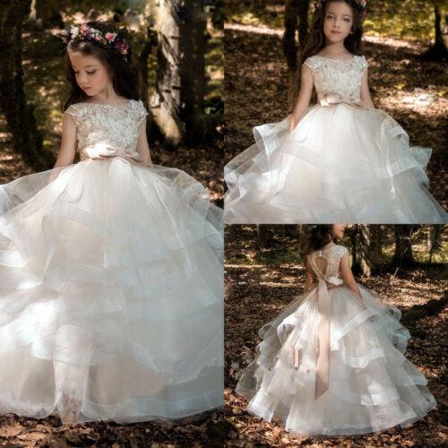 Girl Communion Party Prom Princess Pageant Bridesmaid Wedding Flower Girl Dress