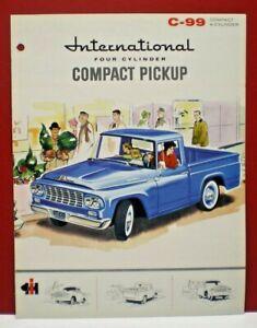 """Original 1961 International Harvester """"C-99 Compact Pickup"""" Dealer catalog flyer"""