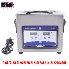 Digital Ultrasonic Cleaner Heated Timer Stainless Ultra Sonic Cleaning Machine