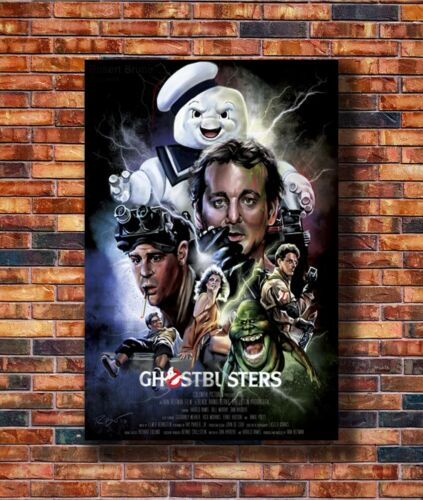 Hot Fabric Poster Ghostbusters Movie 1984 36x24 30x20 40x27inch Z1577