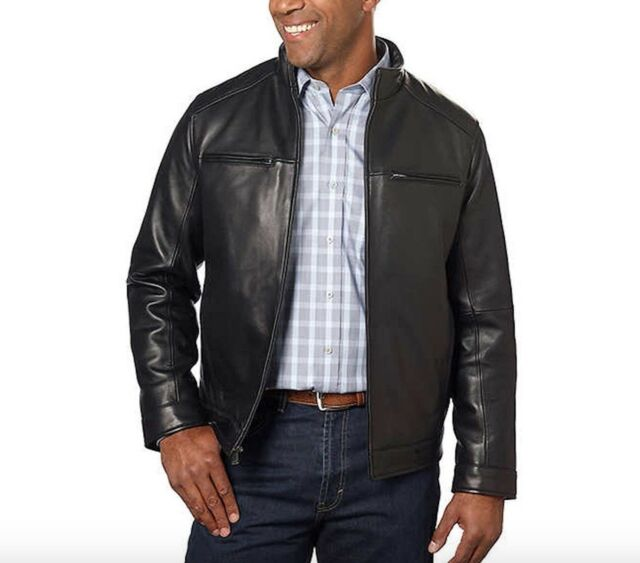 7f8ef4371 Boston Harbour Men's 100 Leather Shell Jacket Black XXL 2xl 1052933 ...