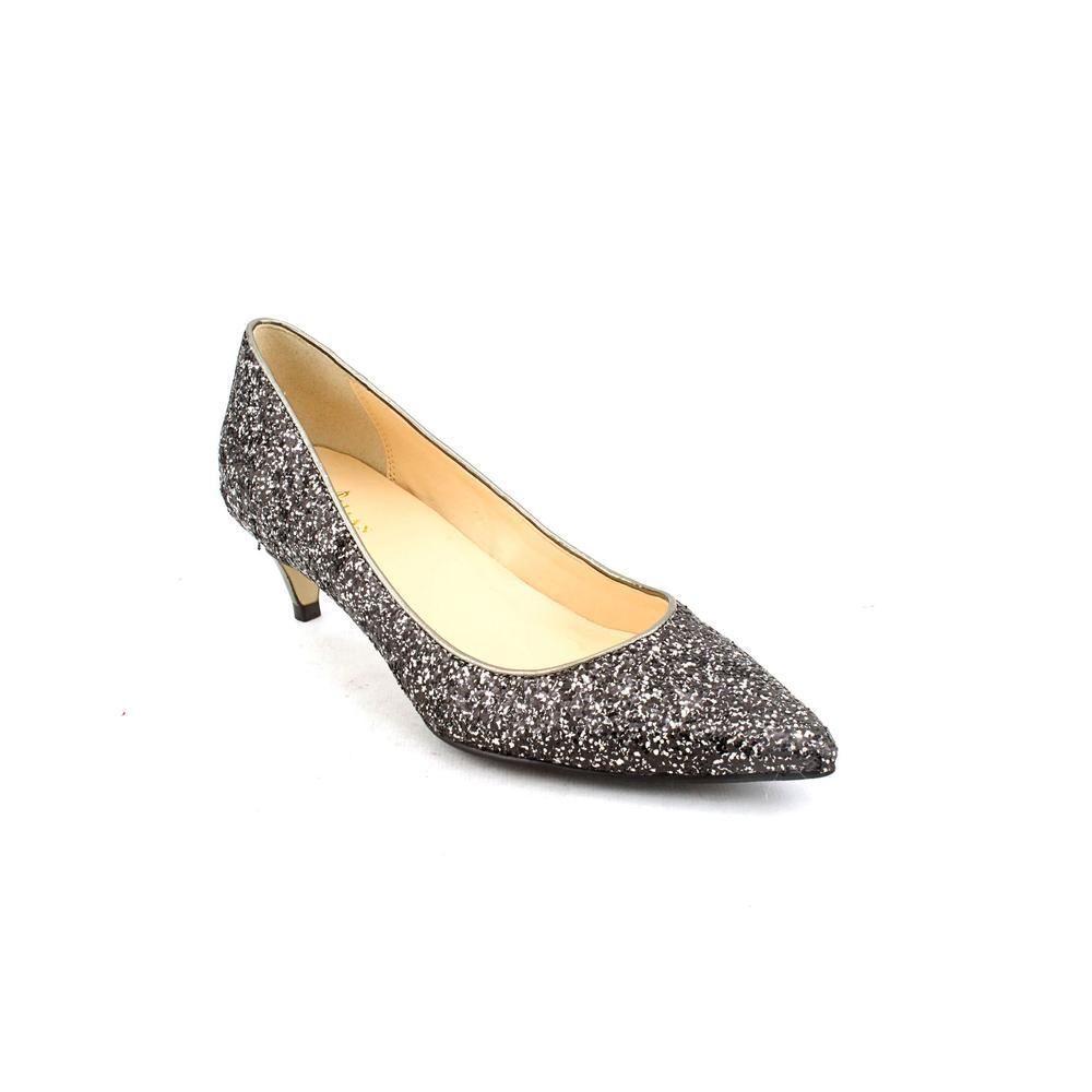 NEW  198 Cole Haan Air Juliana Glitter Black Mid-Heel Pump Size 6
