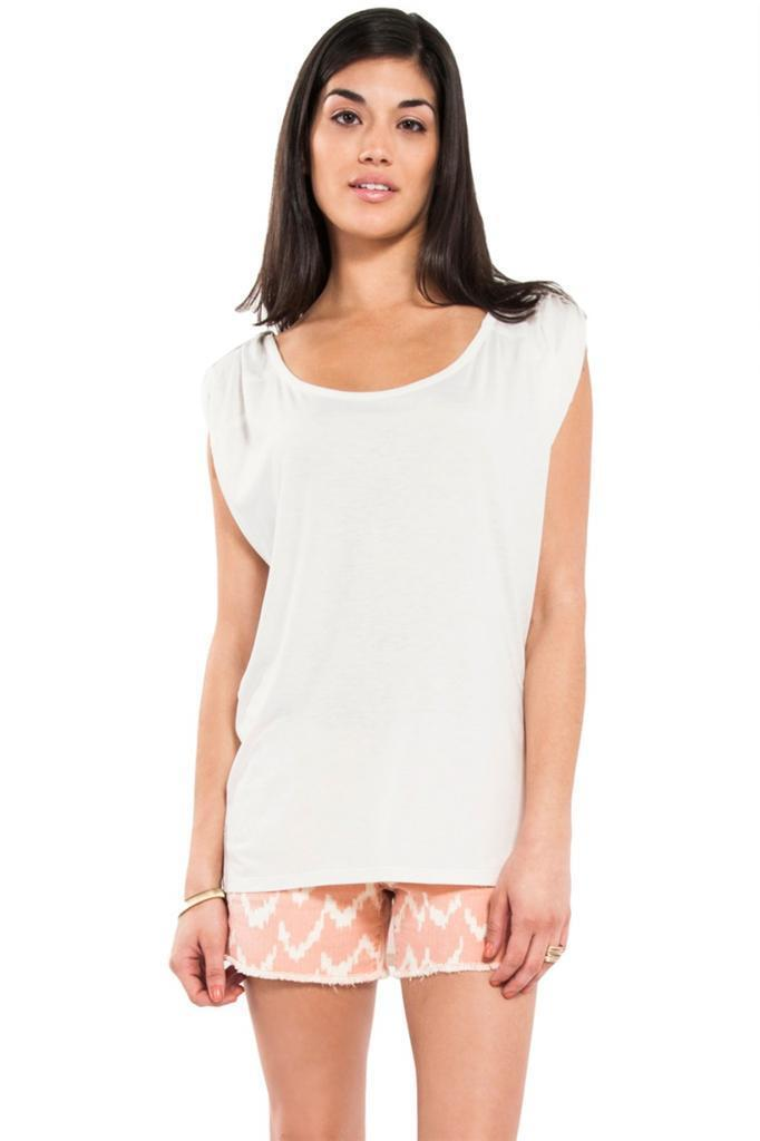 Mackage Sleeveless Tank with Plunging Neck Line in Off Weiß WSJR-T082 NEW Silk