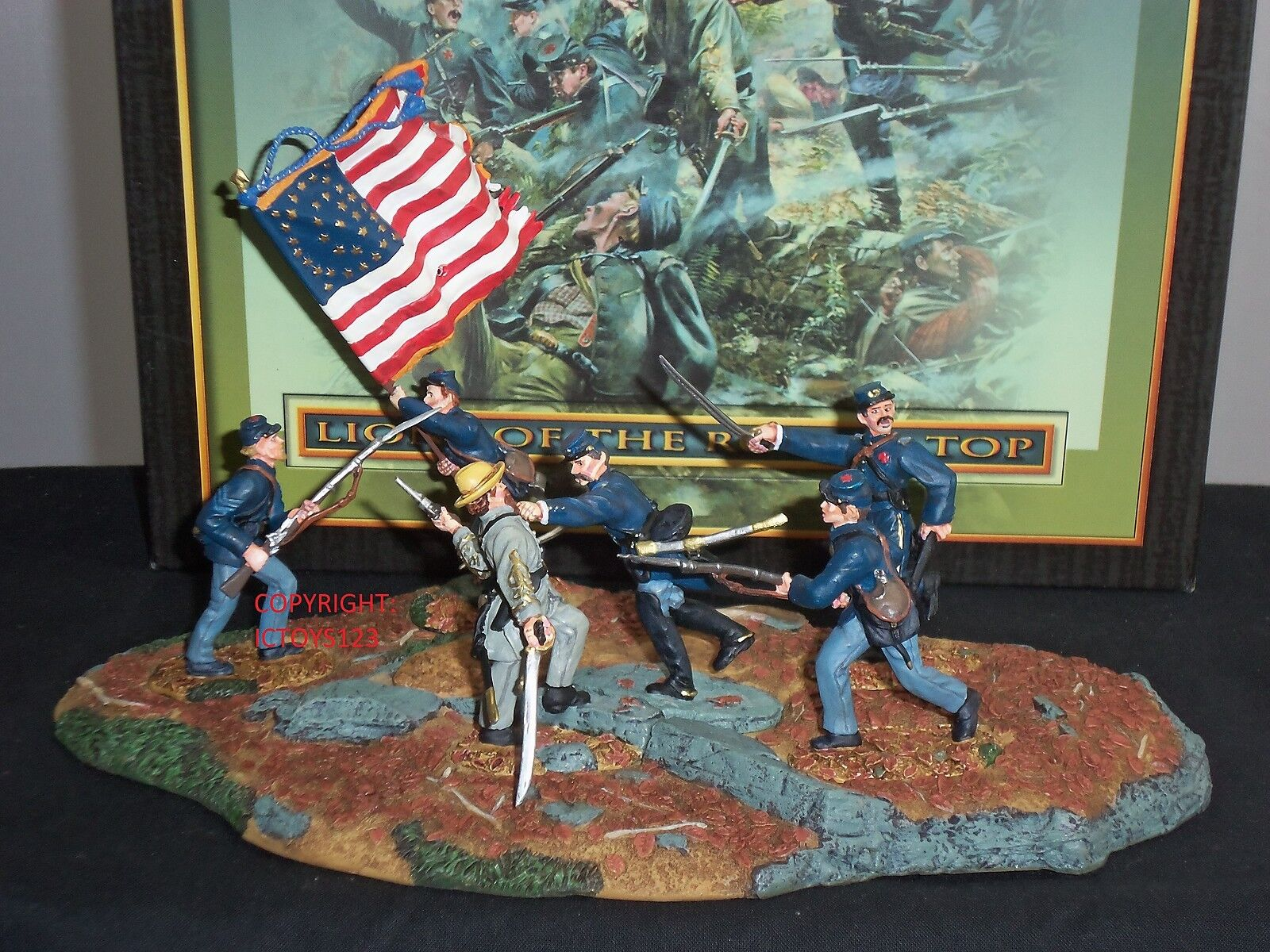 CONTE DT59001 AMERICAN CIVIL WAR LIONS OF THE ROUND TOP TOY SOLDIER FIGURE SET