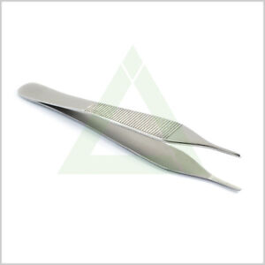 Adson-Tissue-Forceps-12cm-Serrated-Tip-Pliers-Thumb-Tweezers-Dressing-Lab-Tools