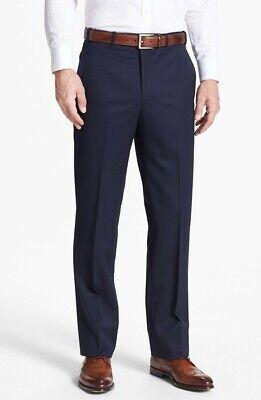 """Ted Baker """"astrot"""" Blu Navy Misto Lana Pantaloni Su Misura Nuovo Con Etichetta 40 R Rrp £ 110.00-mostra Il Titolo Originale Limpid In Sight"""