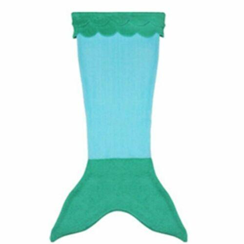 Kids Mermaid Blanket Tail Fleece Fish Sleeping Snuggle Throw Girl Boy Teen UK