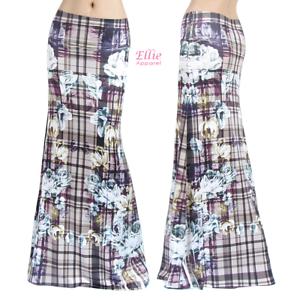 Plaided Floral Checkered Sublimation maxi long skirt S//M//L//XL//1XL//2XL//3XL