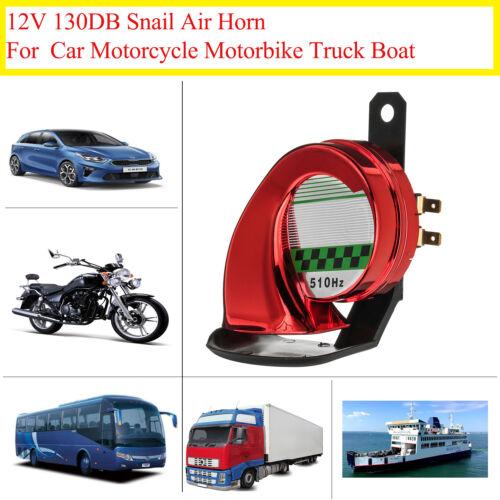 Universal Car Motorcycle Motorbike Truck Boat 130DB Electric Loud Snail Air W0P9