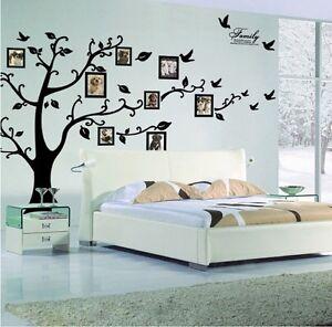 xxl baum wandtattoo stammbaum mit 8 x vogel bilderrahmen 250 x 200cm ebay. Black Bedroom Furniture Sets. Home Design Ideas