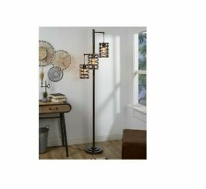 J.Hunt Home Brady 3-Arm Metal LED Floor Lamp Deep Bronze ...