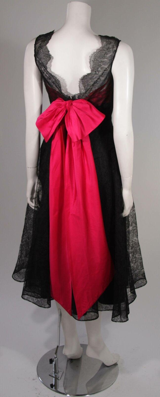 CEIL CHAPMAN Black Lace Cocktail Dress with Large… - image 9