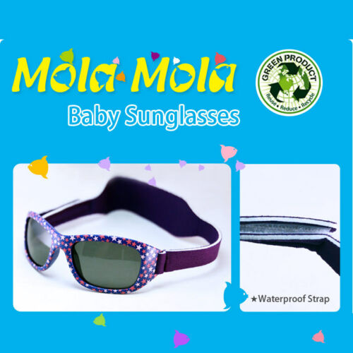 2897f575d1 ... Baby Sunglasses Sport Polarized Purple UV safety Head strap 1-3 Years  MOLA MOLA