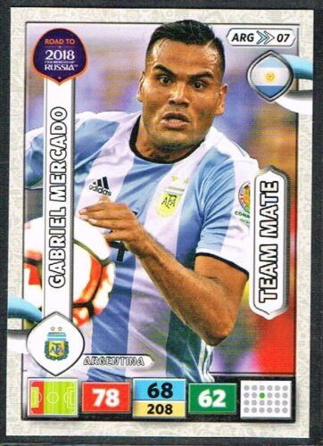 PANINI ROAD TO WORLD CUP 2018 ☆☆ Argentine ☆☆ Football Cartes #ARG01 à #ARG18