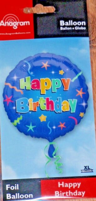 18 ANAGRAM FOIL BALLOON HAPPY BIRTHDAY PARTY NEW IN RETAL PACKET