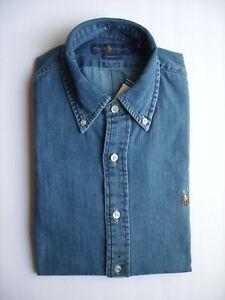 2d1fc9ad49 Image is loading Men-Polo-Ralph-Lauren-Denim-Shirt-Classic-Fit-