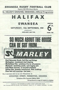 SWANSEA-v-HALIFAX-RUGBY-UNION-PROGRAMME-13-SEPTEMBER-1969