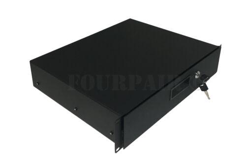 2 Space 2U Rack Mount 19 Drawer Locking DJ Rack Gear Audio Road Case IT Network
