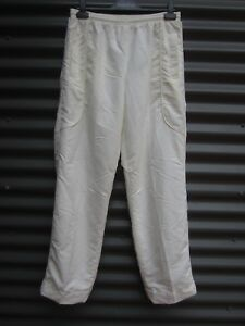 Kitty-And-Jack-Men-s-Cream-Lawn-Bowls-Pants-Stretch-Waist-Size-Medium-36