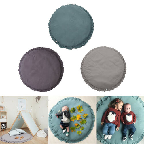 100cm Baby Round Play Pad Crawling Mat Cushion Floor Rug for Kids Bedroom