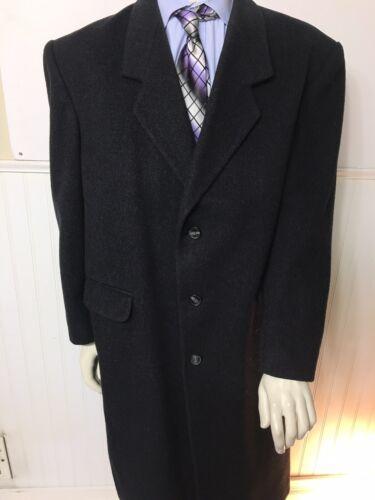 Virany 100% Wool Black Overcoat Top Dress Trench L