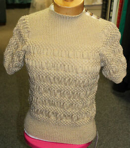1940 1950s Ladies Jumper Hand Knitted WWII WW2 Land army girl 40 50s ... 3eead005d