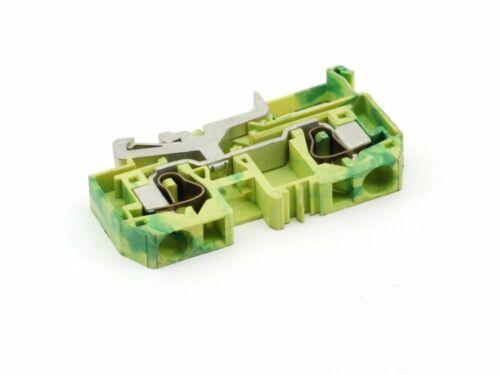 10x Wago 284-907 Schutzleiter Durchgangsklemme PE Klemme Clamp 10mm² 2-Leiter