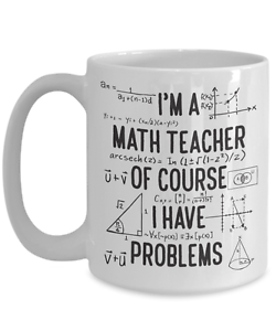5b6e87d2b81 Gift for math teacher, Funny math teacher mug, Of course I have ...