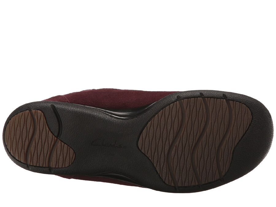 NEU Clarks KEARNS SIRENA Leder Damens Stiefel Größe 9 Burgundy (MSRP 180)