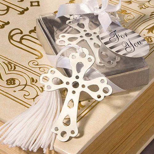 200 Cross Bookmark Favor Baptism Communion Christening favors Religious favor