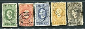 Nederland nvph 90/93, Jubileumzegels, gebruikt