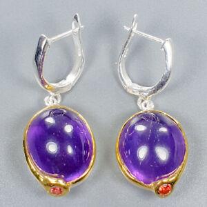 Amethyst-Earrings-Silver-925-Sterling-Unique-Jewelry-Design-E39214