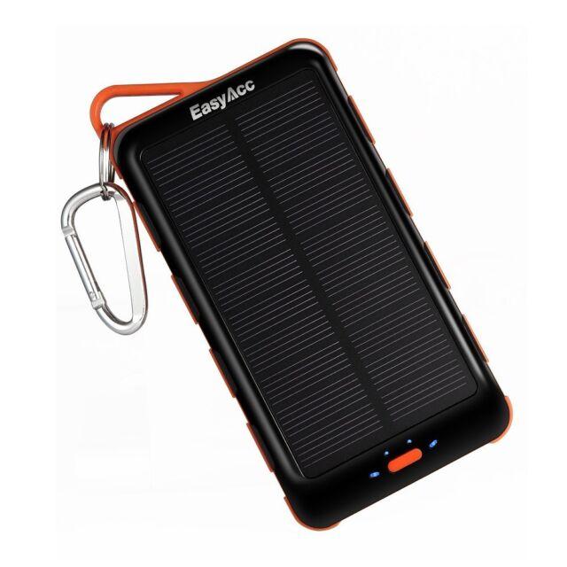 EasyAcc 15000SP Solar Dual USB Power Bank Ladegerät mit externe Akku (15000mAh)