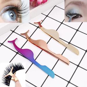 259d980e594 Image is loading Extension-curler-fake-false-eye-lash-tweezers-applicator-
