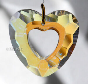 32mm-Crystal-AB-Facet-Open-Heart-Prism-Pendant-Great-Love-Gift-1-1-4-034