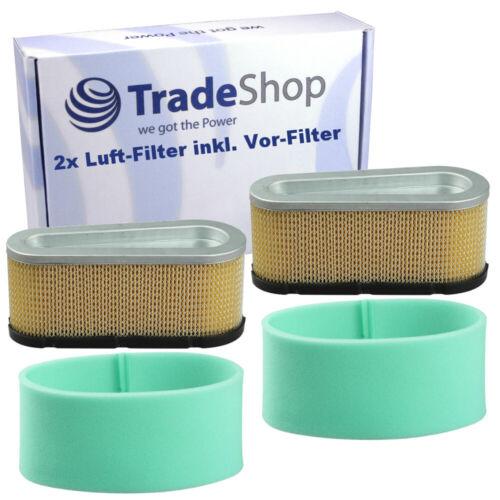 496894 12,5 PS 496894S 2x Luftfilter mit Vorfilter Briggs 12 PS u Stratton