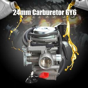 24MM-GY6-Scooter-Moped-Carburetor-Carb-110-125-150cc-For-ATV-Gokart-Roketa-Quad