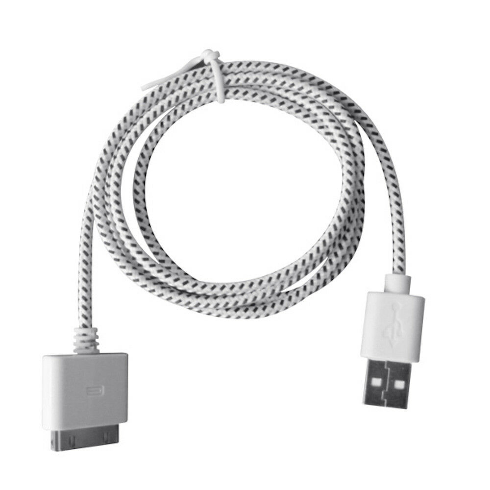 3.5 mm ATIVA Braided Auxiliary Audio Cable for Apple iPhone and iPod 3 Black